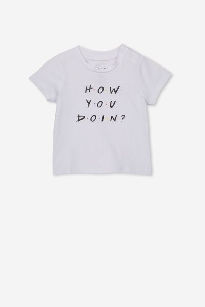 Jamie Short Sleeve Tee, LCN WB WHITE/HOW YOU DOIN