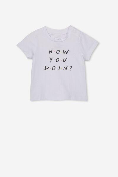 Jamie Short Sleeve Tee, LCN WB WHITE/HOW YOU DOIN