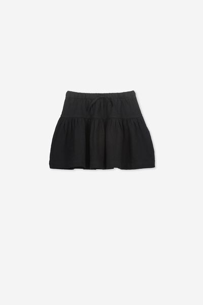 Cilla Skirt, BLACK/SLUB