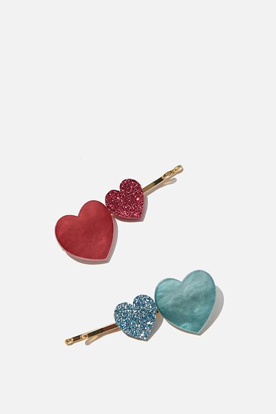 Hair Clips, S ROSE HEARTS