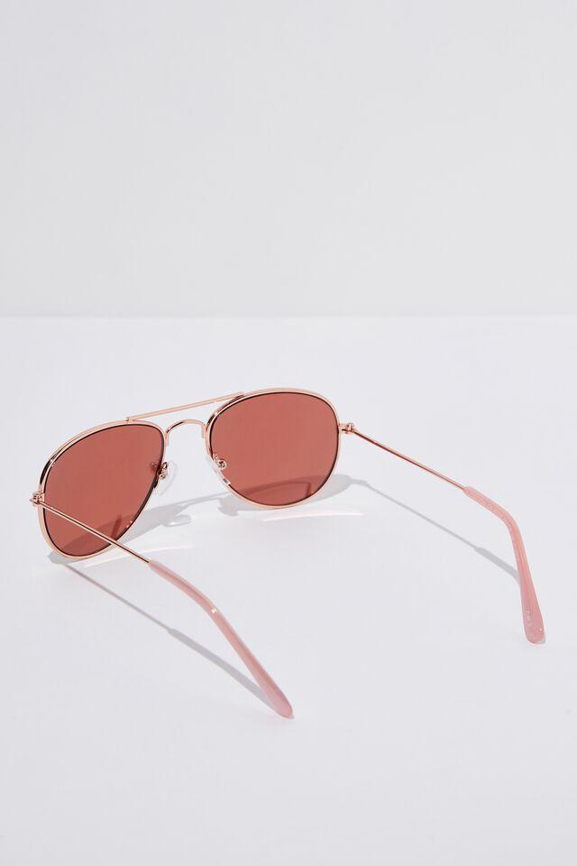 Pilot Sunglasses, ROSEY GOLD