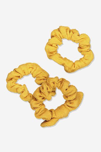 Mini Scrunchie, HONEY GOLD