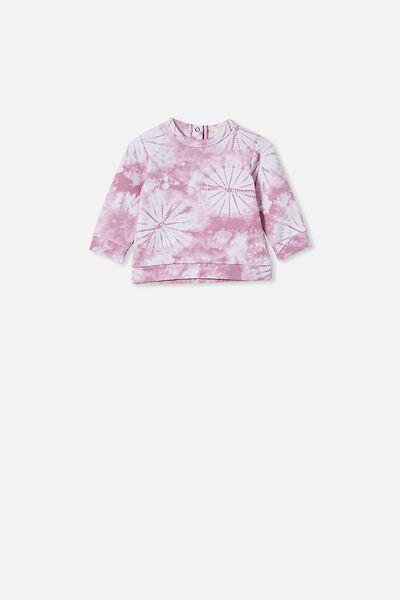 Billie Sweater, CHALKY MAUVE TIE DYE