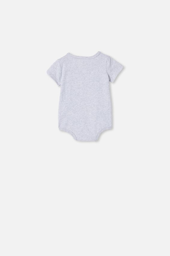 The Short Sleeve Bubbysuit, CLOUD MARLE/YEAH MATE
