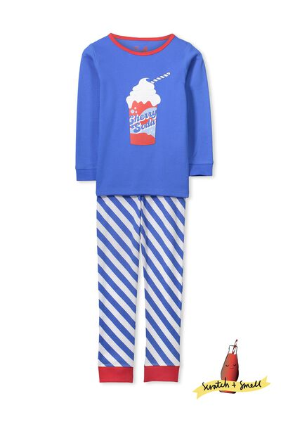 Dan Long Sleeve Boys PJs, SCRATCH AND SMELL CHERRY SODA