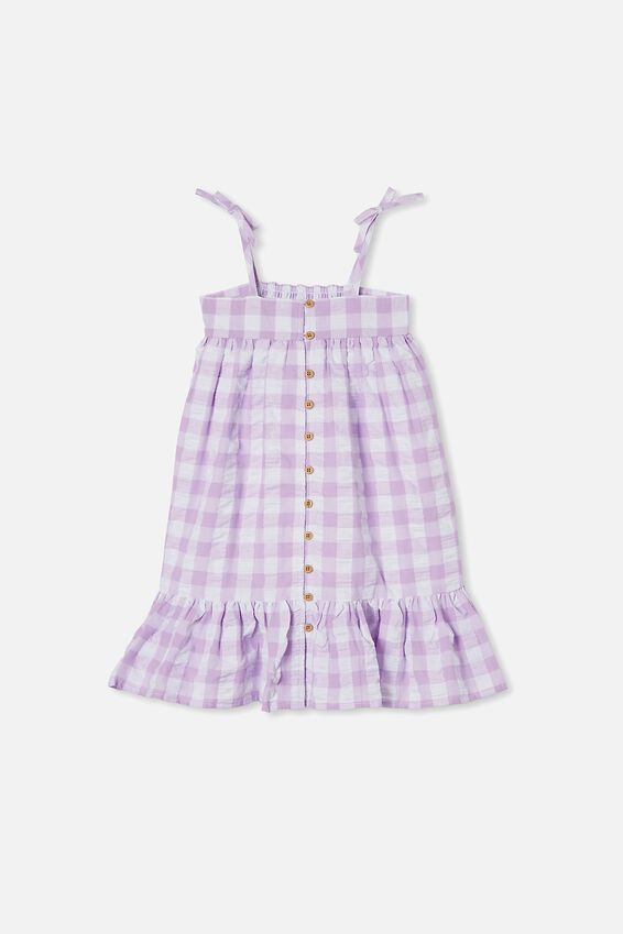 Elle Sleeveless Dress, SUMMER VIOLET GINGHAM