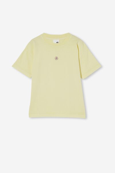 Scout Embellished Short Sleeve Tee, DAISY YELLOW/DAISY EMBROIDERY