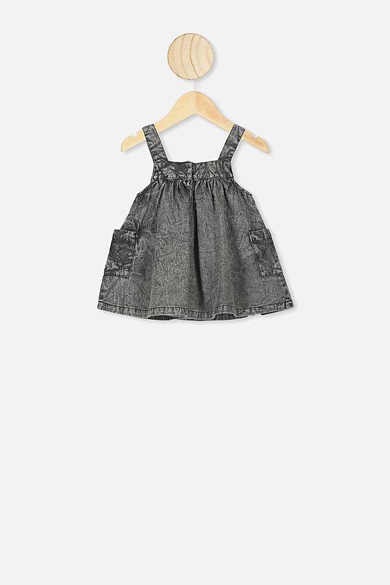 Penny Pinafore Dress, BLACK WASH