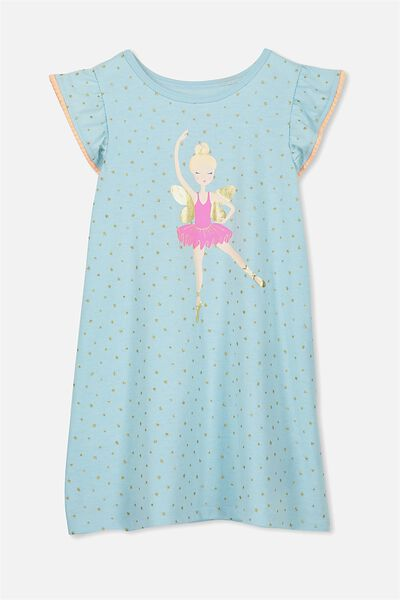 Katie Flutter Sleeve Nightie, FAIRY BALLERINA