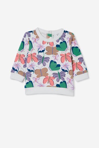 Bobbi Sweater, VANILLA/TAUPY BROWN BEATRICE BUTTERFLY