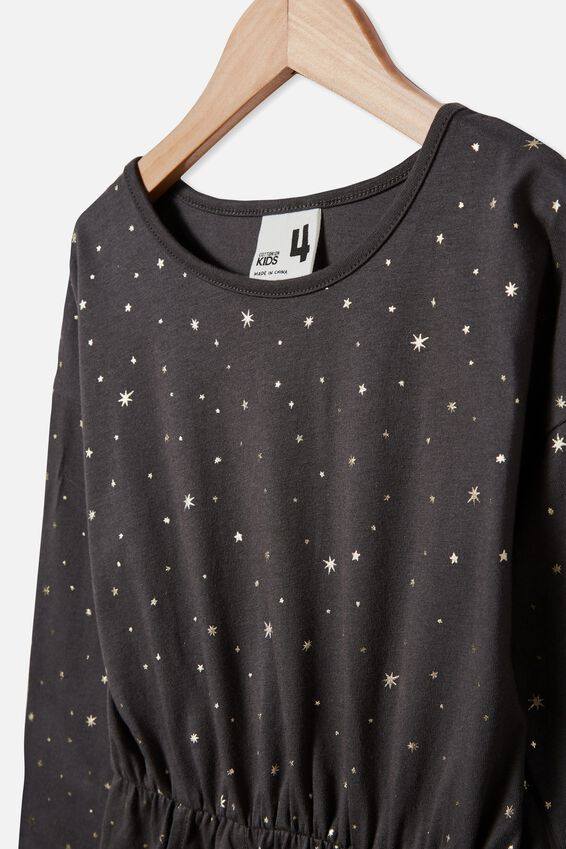 Sigrid Long Sleeve Dress, PHANTOM/STARS