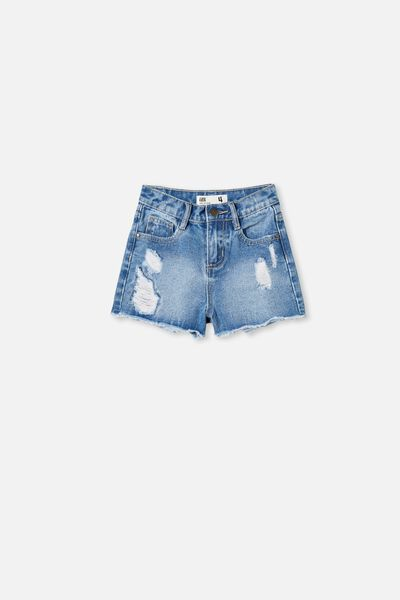 Sunny Denim Short, WEEKEND WASH/RIPS