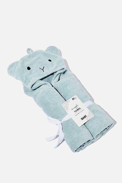 Baby Snuggle Towel, RAIN CLOUD