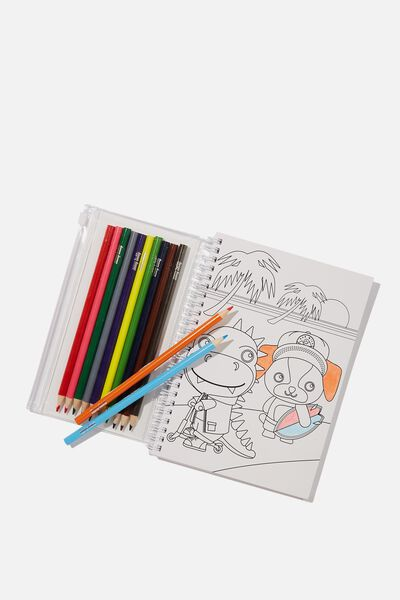 Colour Me Notebook Pack, SUNNY BEACH