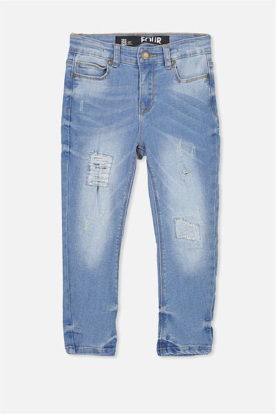 Cam Slouch Pant, FITZROY BLUE