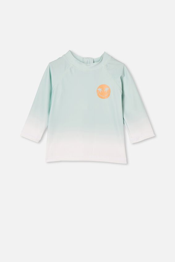 Freddie Rash Vest, DUCK EGG/PALM SMILE