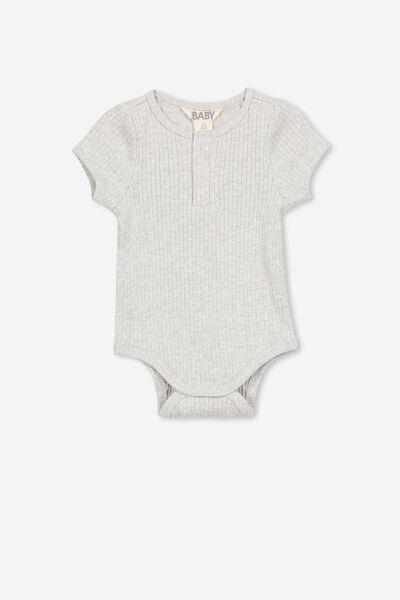 The Short Sleeve Button Bubbysuit, CLOUD MARLE