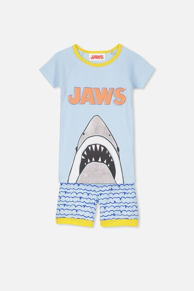 Ben Boys Short Sleeve Raglan PJ Set, JAWS