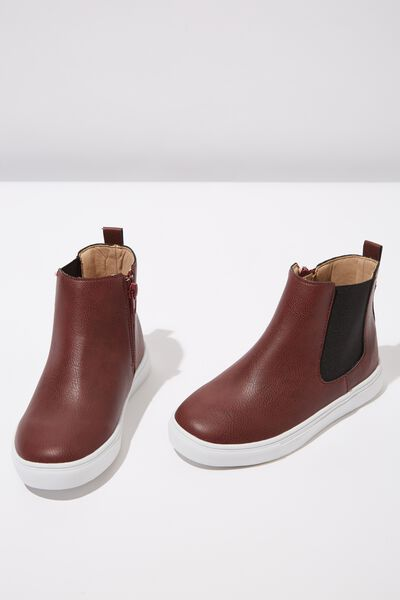 Darcy Gusset Boot, BURGUNDY SMOOTH