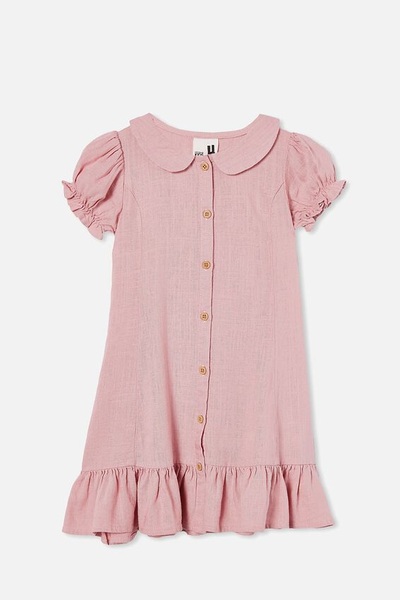 Evelyn Short Sleeve Dress, MARSHMALLOW