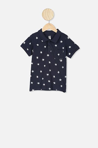 Kendricks Polo, INDIAN INK/WHITE STARS