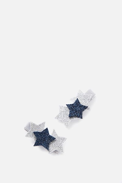Fashion Hair Clips, TWILIGHT PADDED STAR