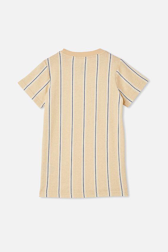 The Cruz Short Sleeve Long Line Tee Stripe, SEMOLINA/ LESS HATE MORE SKATE