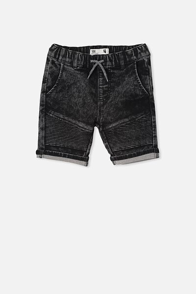 Jango Walk Short, BLACK ACID WASH