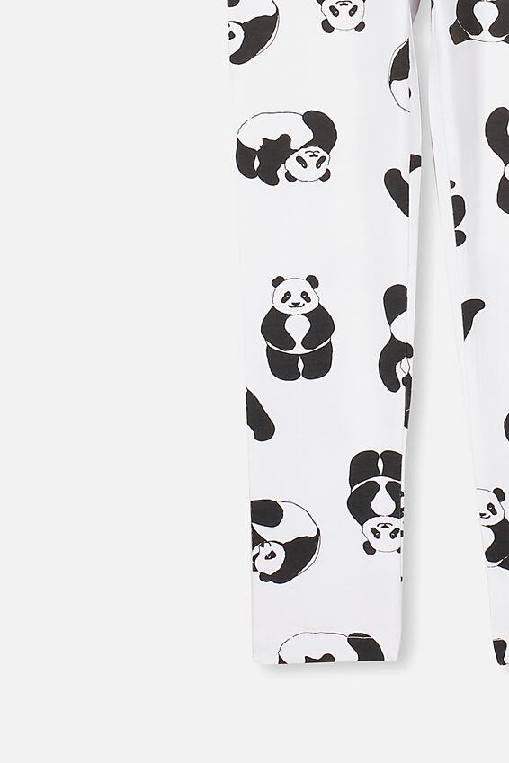 Huggie Tights, WHITE/PANDAS