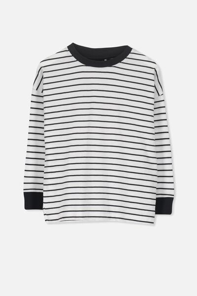 Tom Loose Fit Tee, BX/WHITE BLUE STRIPE