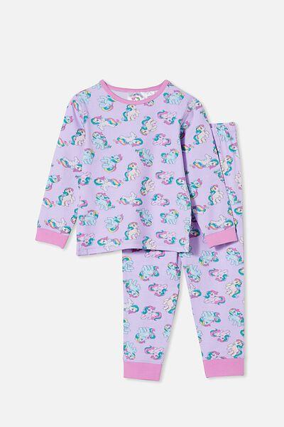 Florence Long Sleeve Pyjama Set Licensed, LCN HAS MY LITTLE PONY/VINTAGE LILAC