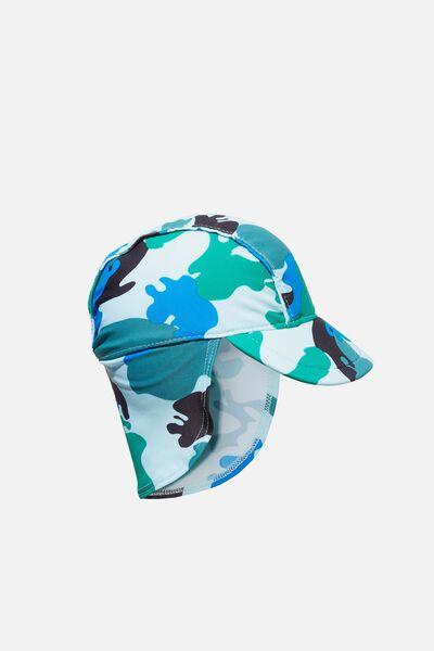 Newborn Sonny Swim Hat, CAMO