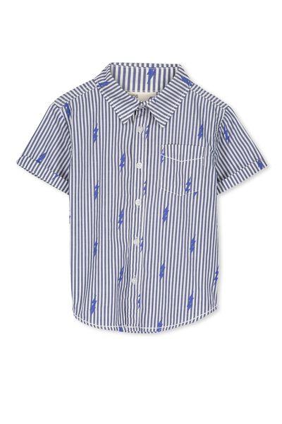 Jackson S/Slv Shirt, VANILLA/BOLTS