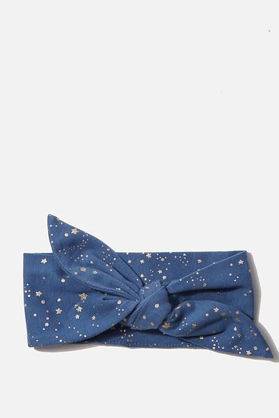 The Tie Headband, PETTY BLUE SCATTER STARS