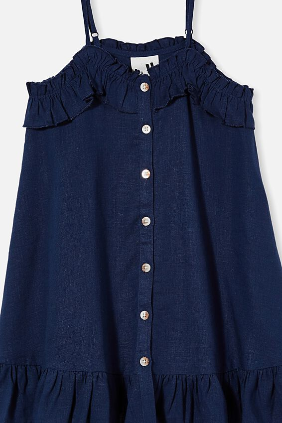 Libby Sleeveless Dress, INDIGO