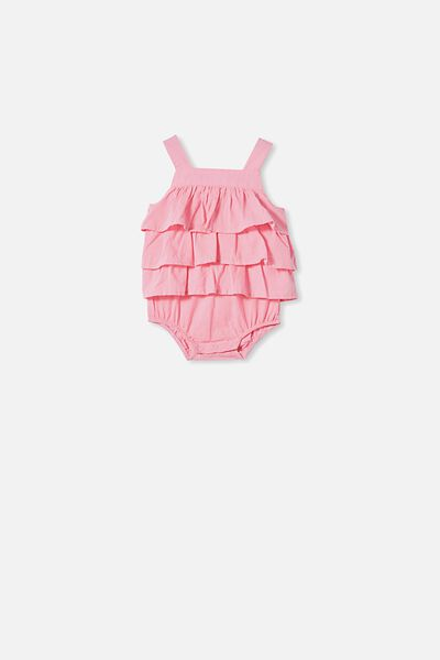 Tilly Ruffle Bubbysuit, CALI PINK