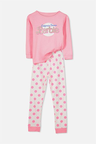 Alicia Long Sleeve Girls PJ Set, BARBIE