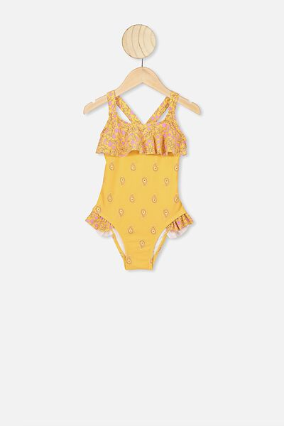 Amber Frill Front One Piece, CORN SILK/SPRIGGY FLORAL