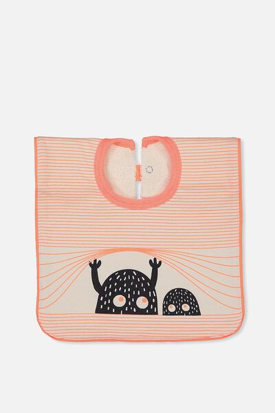 Hansel And Gretel Babies Bib, DARK VANILLA/MONSTER