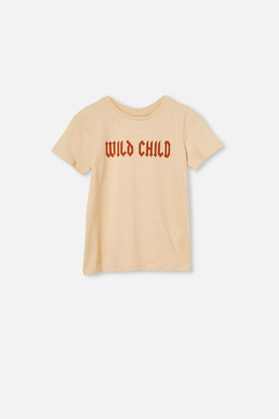 Penelope Short Sleeve Tee, PEACH SAND/WILD CHILD