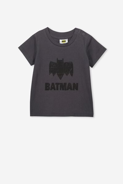 Jamie Short Sleeve Tee, LCN WB GRAPHITE GREY/BATMAN