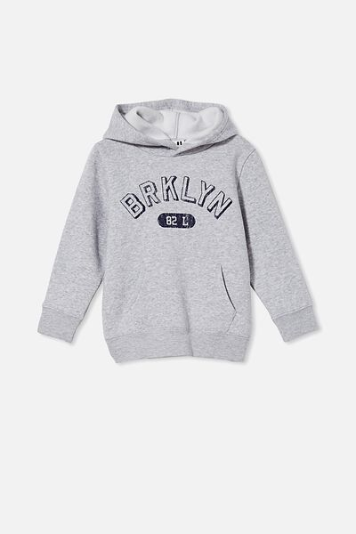 Milo Hoodie, LIGHT GREY MARLE/BROOKLYN