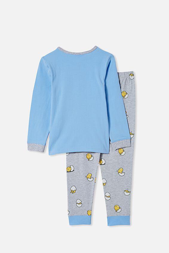 Orlando Long Sleeve Pyjama Set Licensed, LCN SAN GUDETAMA/DUSK BLUE