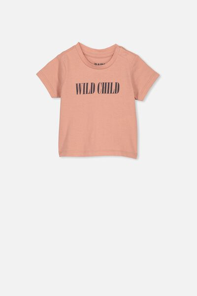 Jamie Short Sleeve Tee, CAMEO BROWN/WILD CHILD