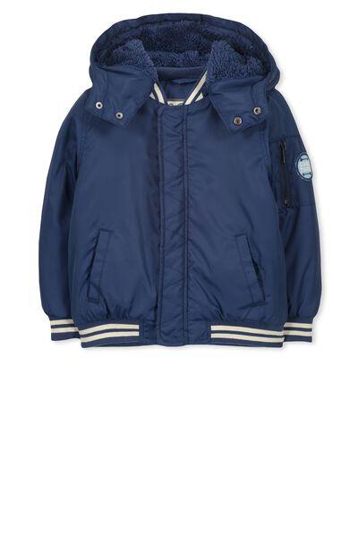 Flynn Puffer Jacket, CAPTAIN BLUE/STRIPE