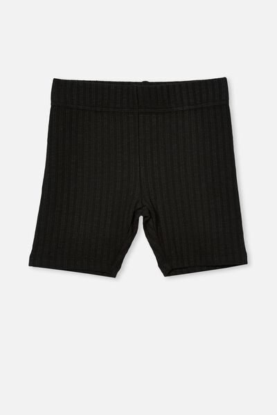 Hailey Bike Short, BLACK RIB