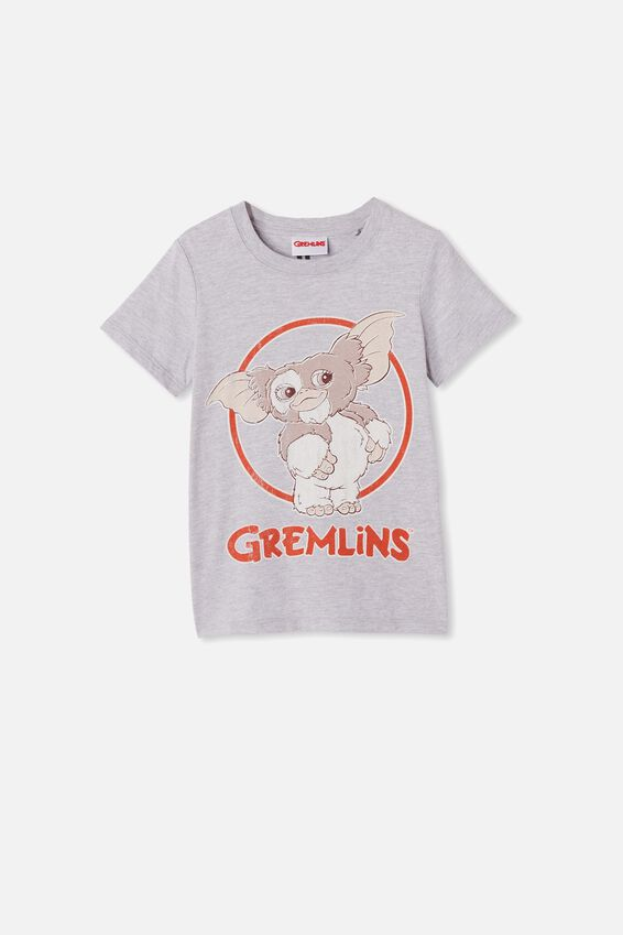 Short Sleeve License1 Tee, LCN WB LT GREY MARLE/GREMLINS