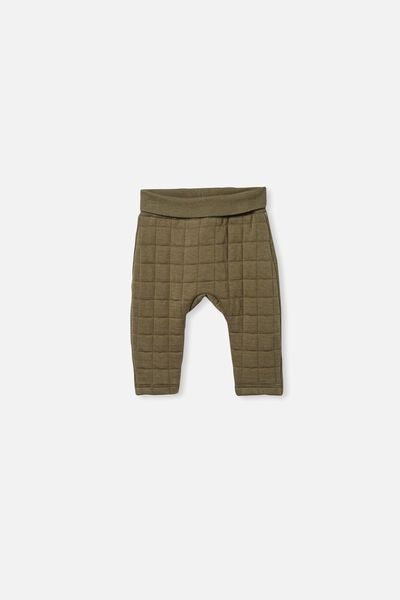 Rory Quilted Trackpant, BEETLE GREEN
