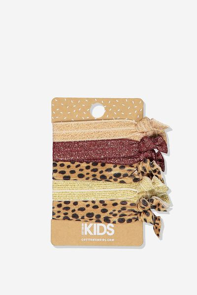 Knot Messy Hairties, LEOPARD
