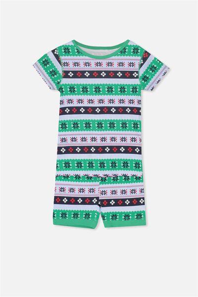 Joshua Short Sleeve Pyjama Set, XMAS BOYS FAIRISLE